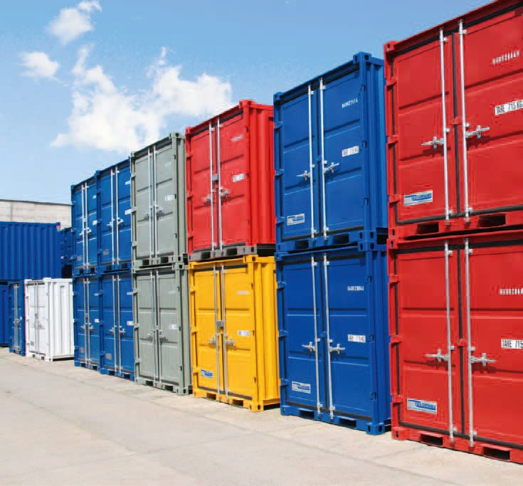Container Verkauf Hamburg. Container Mit Vier Toren Fu. Fu
