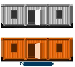 raumsysteme container mieten bei hkl hkl baumaschinen. Black Bedroom Furniture Sets. Home Design Ideas