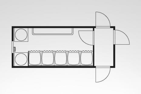 Anlagen-Container Typ HKL SA 20 I mieten bei HKL BAUMASCHINEN