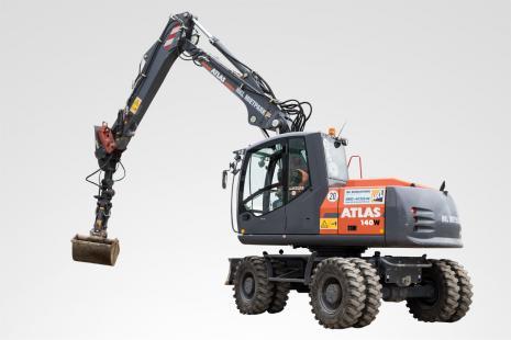 Atlas 140 W Mobilbagger mieten bei HKL BAUMASCHINEN