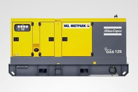 Atlas Copco QAS 125 Stromerzeuger mieten bei HKL