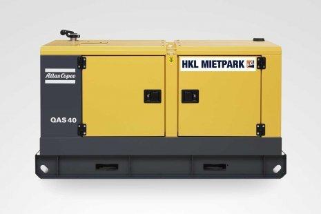 Atlas Copco QAS 40 Stromerzeuger mieten bei HKL