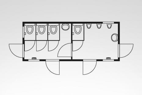 WC-Container Typ HKL SA 20 F STD mieten bei HKL BAUMASCHINEN