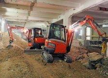 Emissionsarme Maschinen für Bauen im Bestand