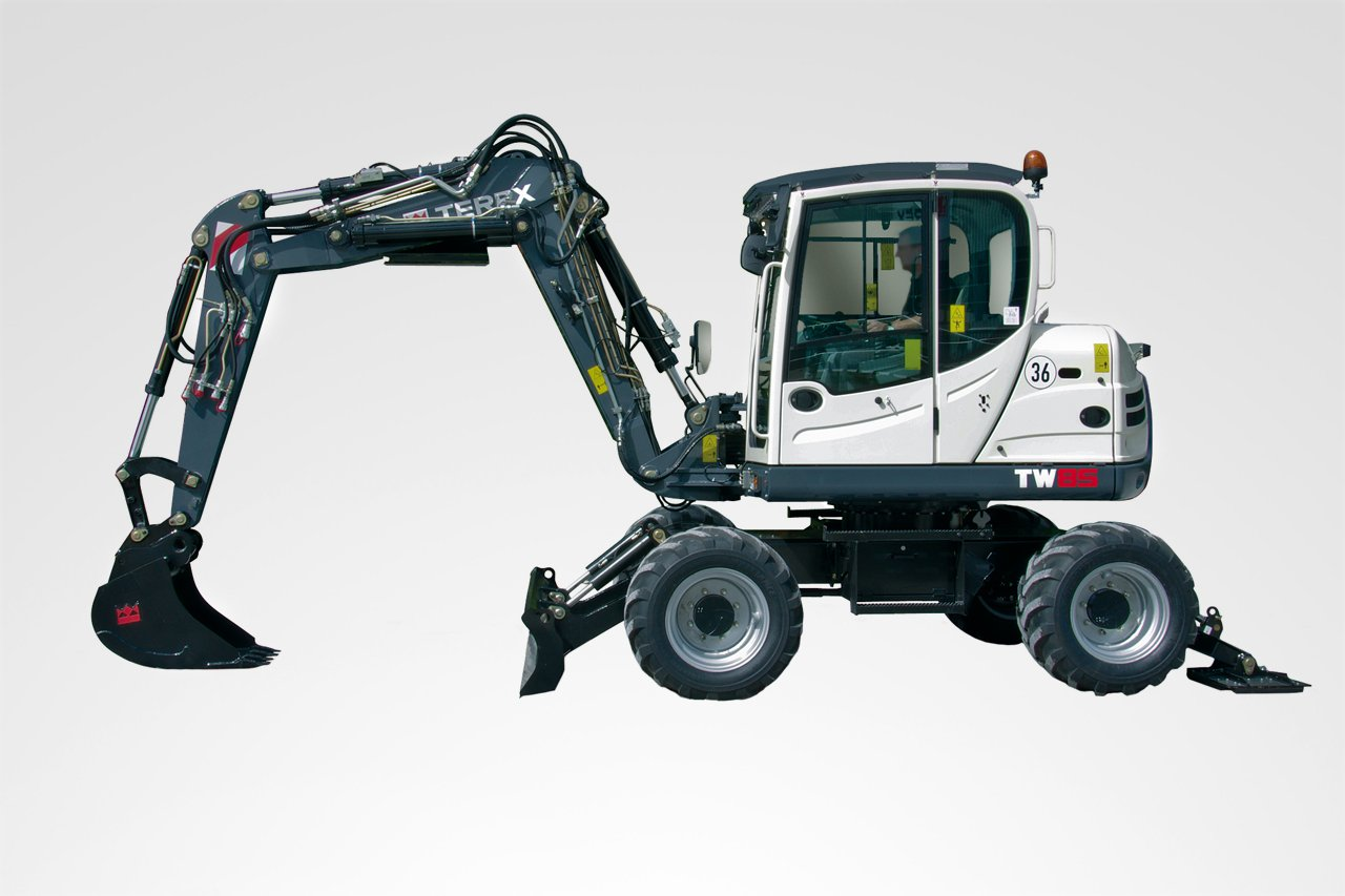 terex tw 85 mobilbagger hkl baumaschinen mieten. Black Bedroom Furniture Sets. Home Design Ideas