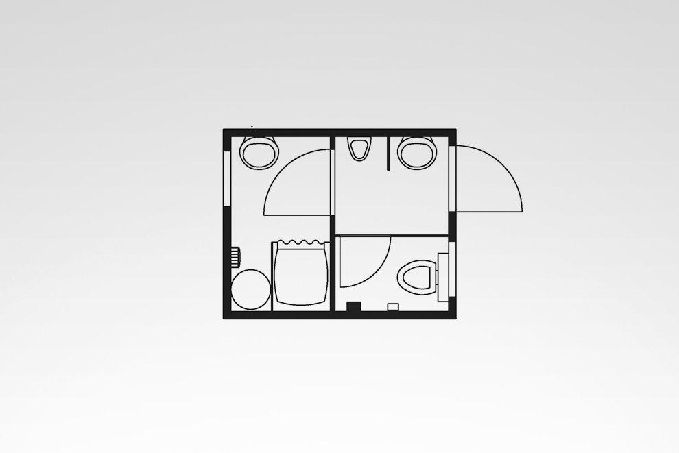 wc dusch container typ hkl sa 10 c hkl baumaschinen mieten kaufen service. Black Bedroom Furniture Sets. Home Design Ideas